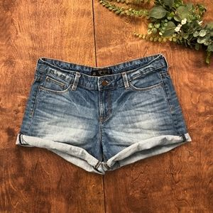 Zara mildly distressed Jean Shorts